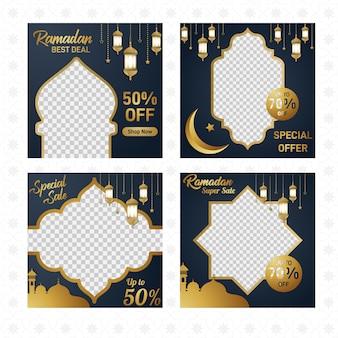 Ramdan big sale instagram post template