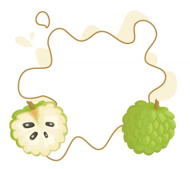 Ramka apple sweetsop custard