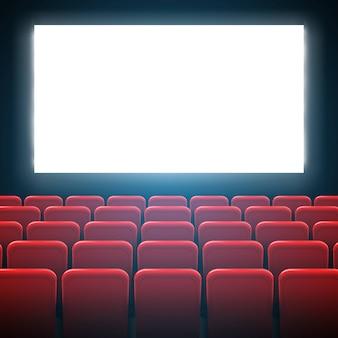 Ramka ekranu kinowego i wnętrze teatru.