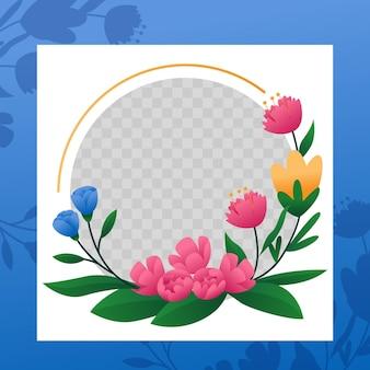 Ramka gradientowa kwiatowy facebook