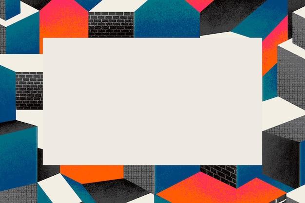 Ramka inspirowana bauhausem w kolorowej tonacji