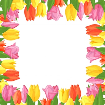 Ramka kolorowe tulipany