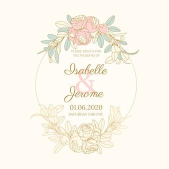 Ramka kwiatowy kolorowy ślub