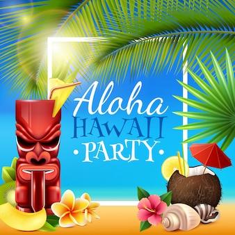 Ramka na przyjęcie hawajskie