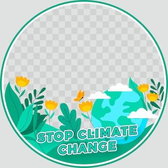 Ramka na temat zmian klimatu na facebooku