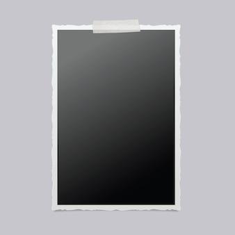 Ramka na zdjęcia na białym tle. vintage ramka na zdjęcia.