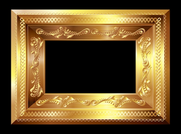 Ramka na zdjęcia złota