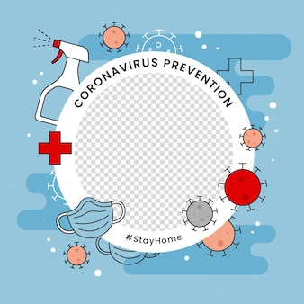 Ramka na zdjęcie profilowe na facebooku z koronawirusem