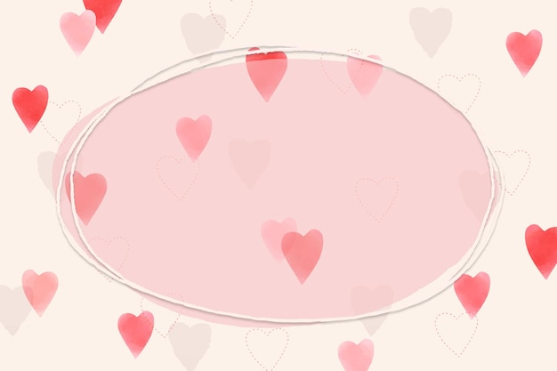 Ramka ozdobiona sercem na walentynki