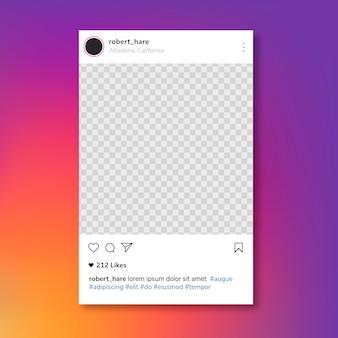 Ramka postu na instagramie