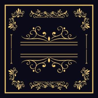 Ramka rozdzielacza w kolorze złotym