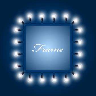Ramka świecących żarówek - plakat teatralny