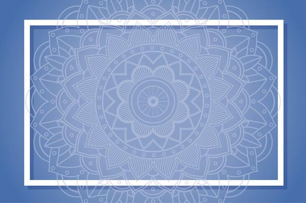 Ramka tła z wzorami mandali
