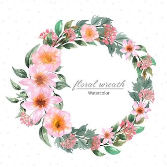 Ramka w kwiaty z pięknymi różowymi kwiatami