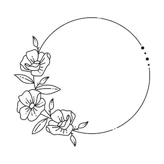 Ramka w kwiaty