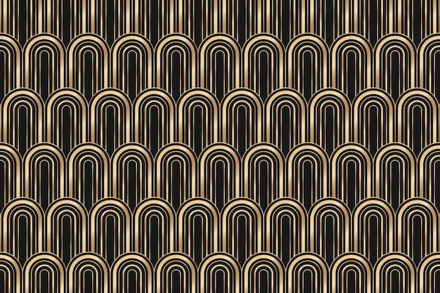 Ramka w stylu art deco z geometrycznym wzorem na ciemnym tle