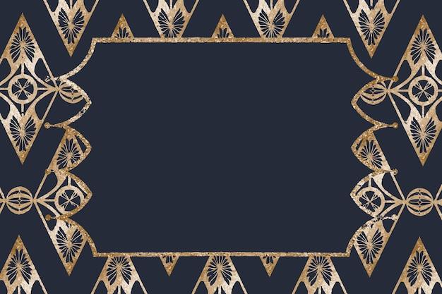 Ramka w stylu vintage ze złotego brokatu, remiks z dzieł samuela jessuruna de mesquita