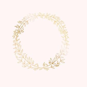 Ramka wieniec. szablon karty zaproszenia ślubne wydarzenie małżeństwa.