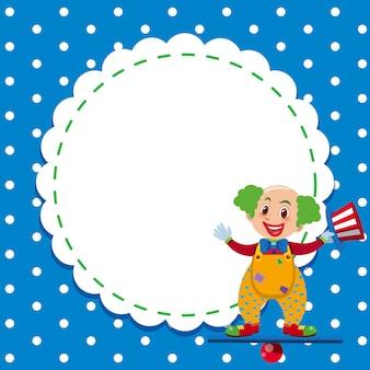 Ramka z klaunem cyrkowym