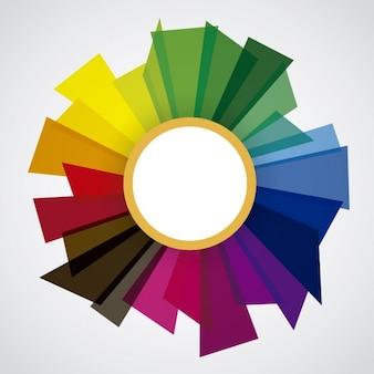 Ramka z kolorowych kształtów