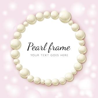 Ramka z koralików perłowych