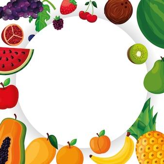Ramka z owocami