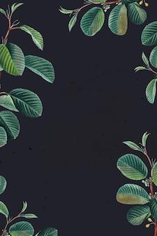 Ramka zielonych liści