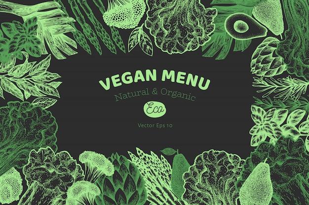 Ramka zielonych warzyw