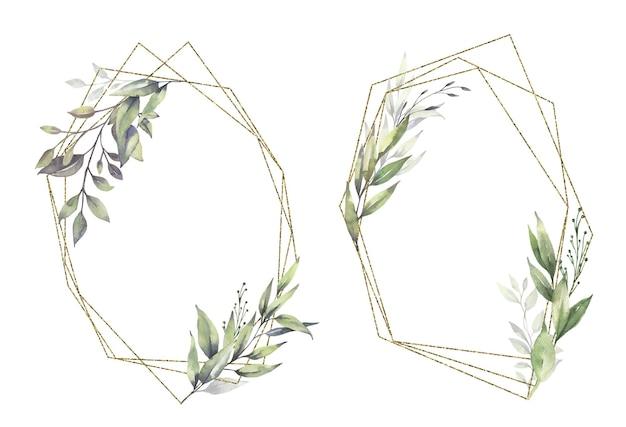 Ramki akwareli zieleni