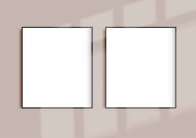 Ramki do zdjęć z nakładką cieni na okno window