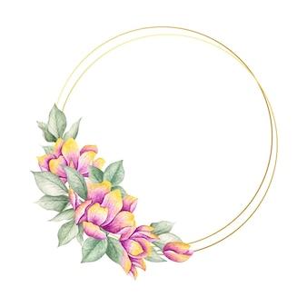 Ramki kolorowe wiosenne kwiaty