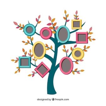 Ramki na zdjęcia na drzewie