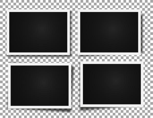Ramki na zdjęcia realistyczne szablony zdjęć