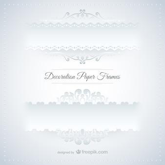 Ramki papierowe dekoracje