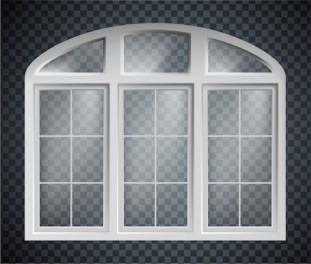 Ramy okienne na białym tle z zamkniętymi okularami.