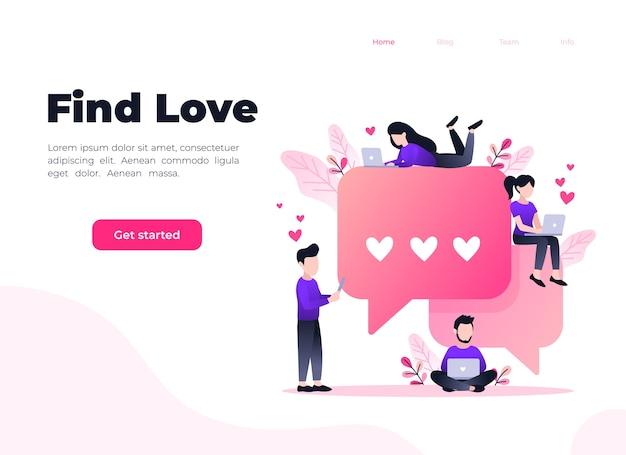 Randki online wirtualne związki koncepcja aplikacji randkowych znajdź miłość
