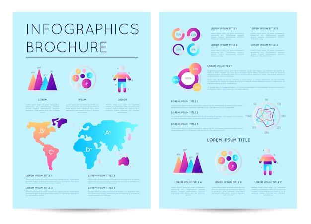 Raport analityczny z różnymi infografikami