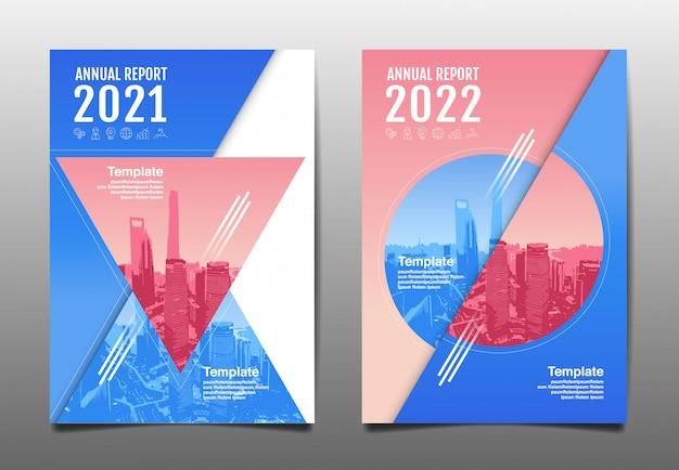 Raport roczny 2020,2021,2022 przyszłość, biznes, projekt układu szablonu, okładka. ilustracja.