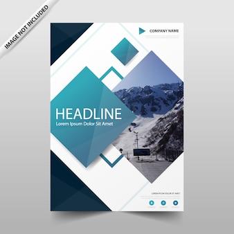 Raport roczny blue square broszura ulotki