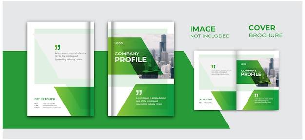 Raport roczny i okładka profilu firmy lub okładka broszury projekt układu szablonu broszury