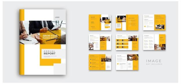 Raport roczny i profil firmy minimalny projekt broszury