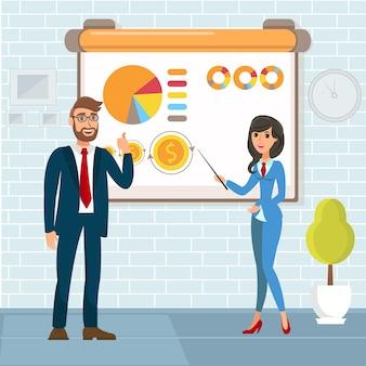Raport roczny, ilustracja prezentacji biznesowych