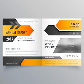 Raport roczny projekt broszury broszura szablon z geometrycznych kształtów