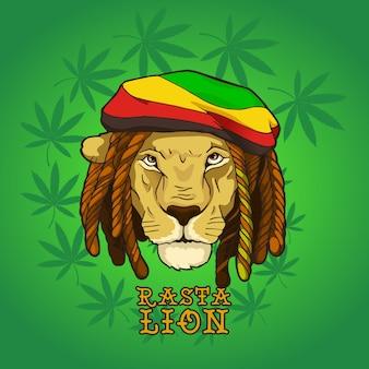 Rasta bob marley lion