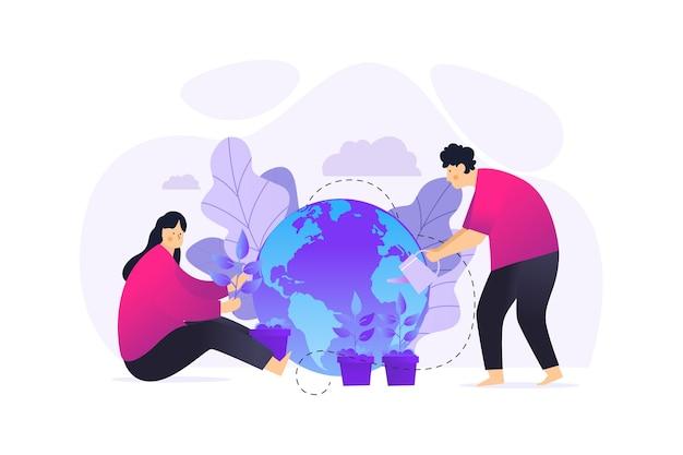 Ratuj planetę, pomagając ludziom