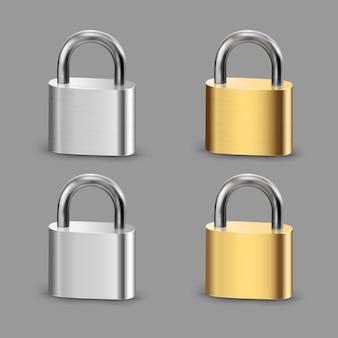 Reaistic set padlock set