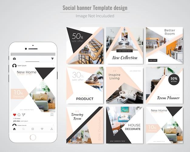 Real estate social media post template