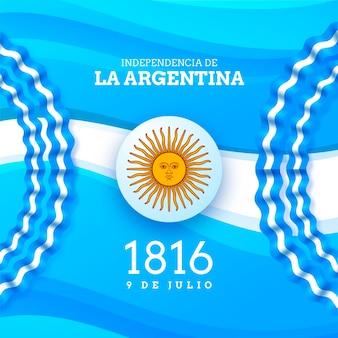 Realistic 9 de julio - declaracion de independencia de la argentina illustration