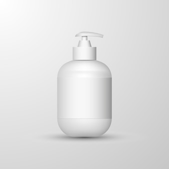 Realistyczna biała butelka do dezynfekcji rąk