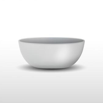 Realistyczna biała ceramiczna miska